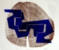 Holzdruck/Holzschnitt VERZAHNUNG X