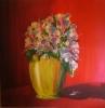 Blumen in Gold-Vase